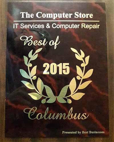 The Computer Store Best of Columbus Award